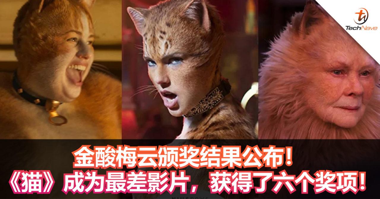金酸梅云颁奖结果公布!《猫》成为最差影片,获得了六个奖项!
