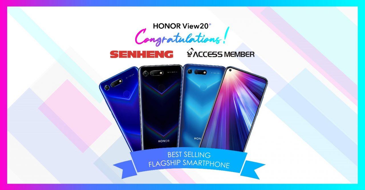 HONOR View 20成为Senheng和Access最畅销的手机!