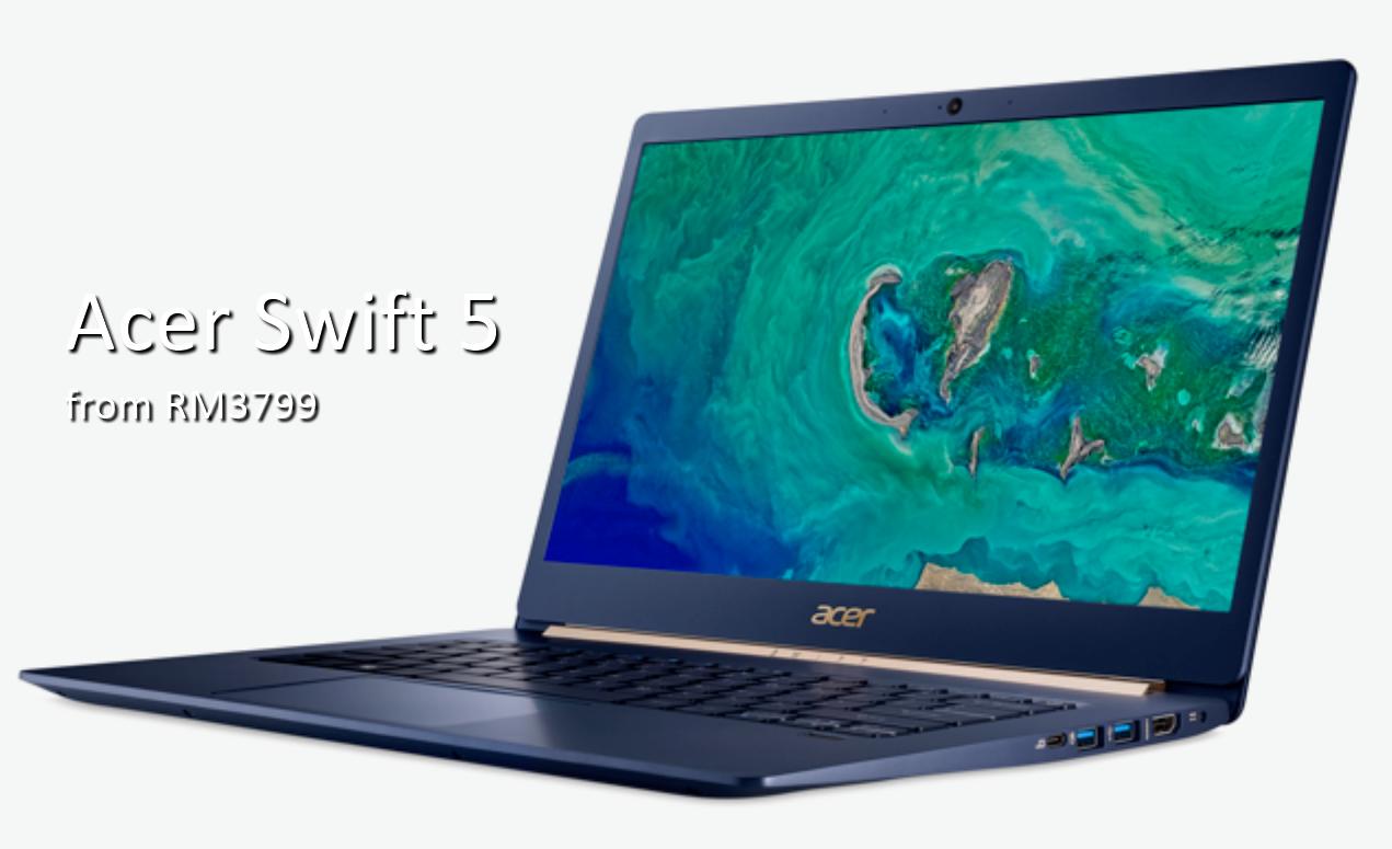 轻薄还有更极致!超薄Acer Swift 5现从RM3799起发售!