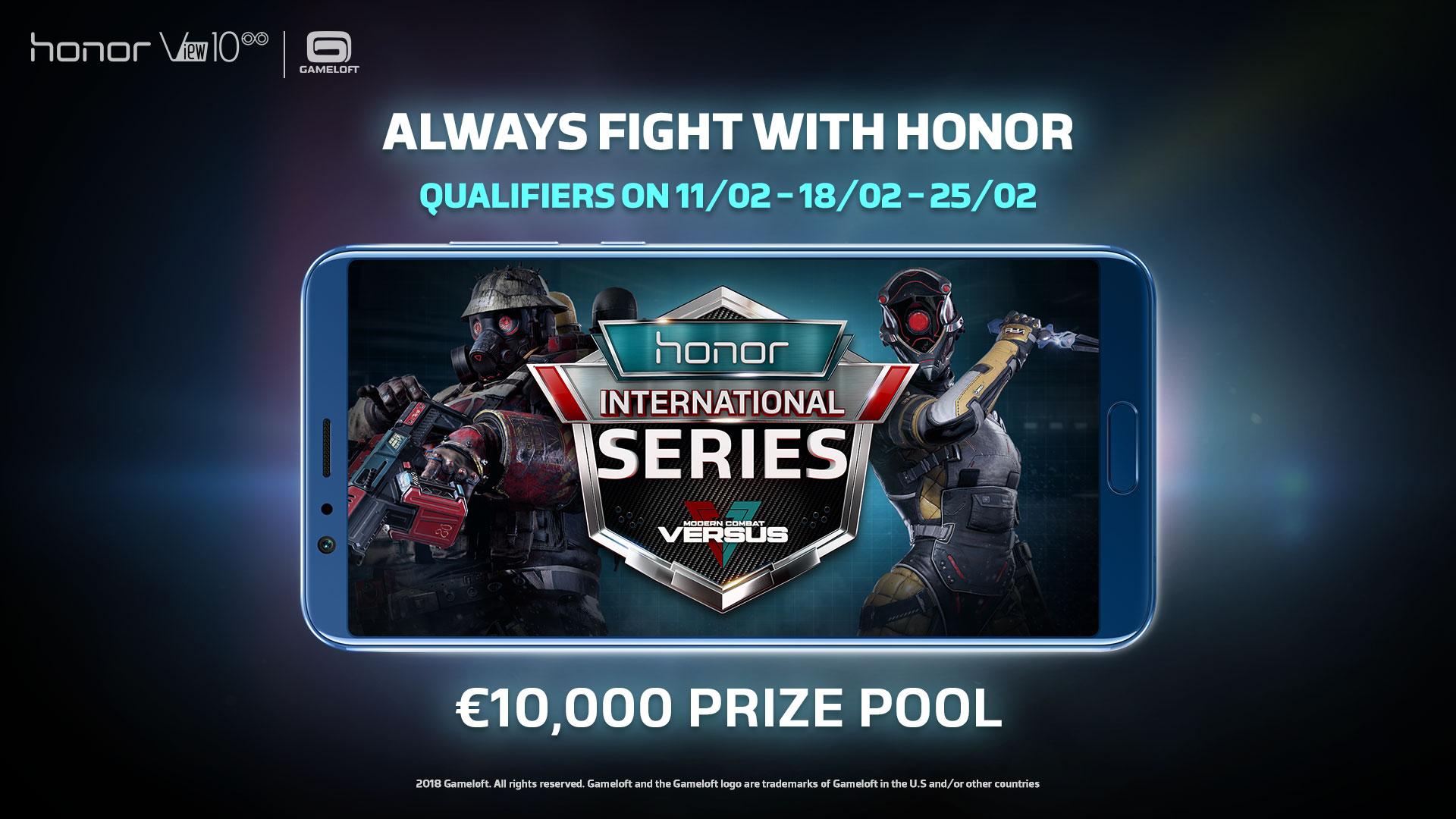 honor View 10与Gameloft合作,联手打造Modern Combat Versus国际手游竞赛!