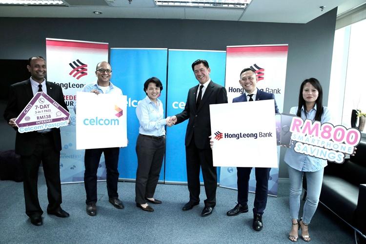 Celcom与Hong Leong Bank合作,购买Celcom手机配套可享有最高达RM800的现金回扣!