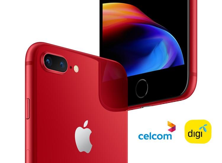 iPhone 8艳红版系列5月2日起可在Celcom与Digi开始购买!
