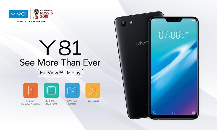 vivo Y81正式发布,RM799让你拥有6.22寸刘海全面屏手机!
