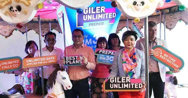 U Mobile推出全新超值配套Giler Unlimited,RM30就能享有无限上网和拨电!