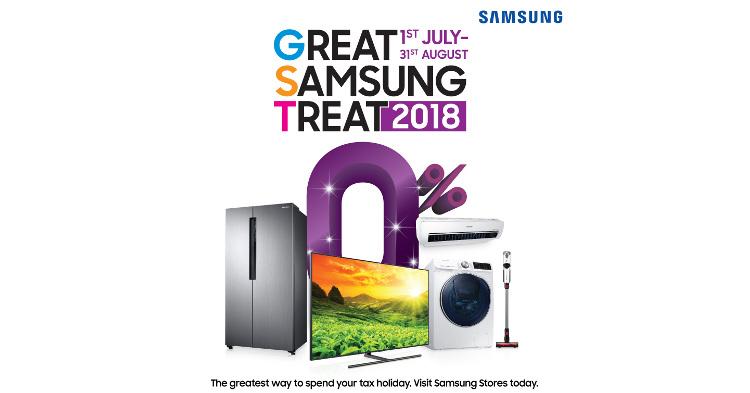 """GST来了?对,""""好康""""多到让你笑的Great Samsung Treats 2018优惠活动开始啦!敢敢买罢了!"""
