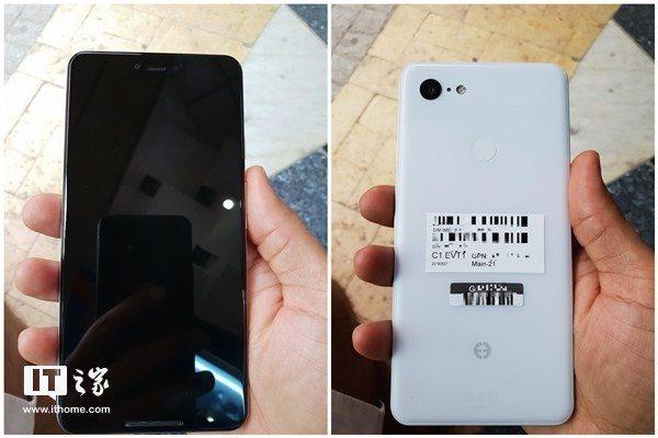 Google Pixel 3真机曝光?4GB + 64GB Samsung牌存储配置,还有刘海屏!