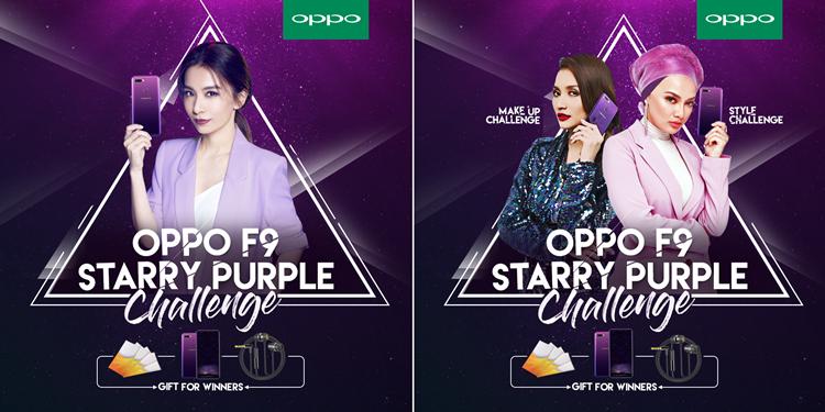 赢取全新的OPPO F9手机!大马OPPO星空紫化妆/风格挑战正式开始!