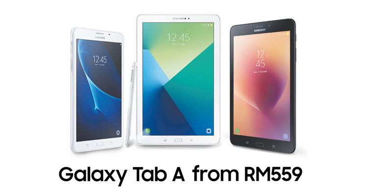 Samsung Galaxy Tab A系列的优惠活动!最低从RM559起!