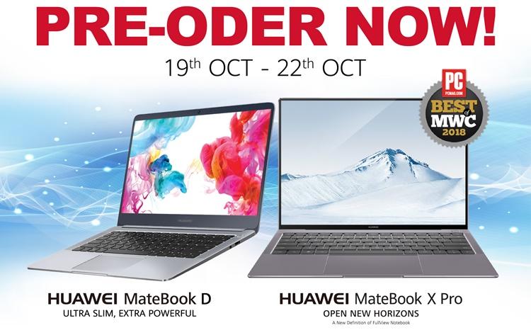 现在预购Huawei MateBook X Pro & MateBook D将会获得Microsoft 365 Home和其他赠品!售价从RM2999起!