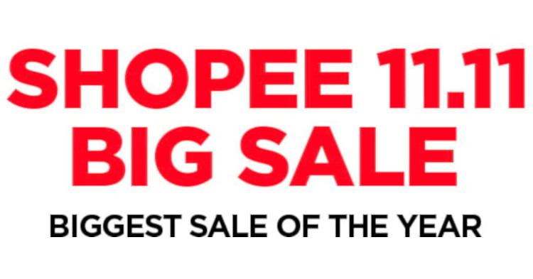 Shopee宣布11.11 Big Sale的大部分商品不含SST!同时还有许多有趣活动!