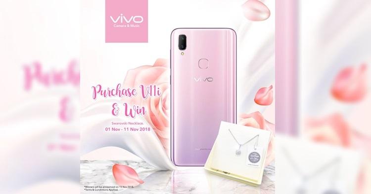 把握机会购买vivo V11i 粉色版来赢取 Swarovski 项链!