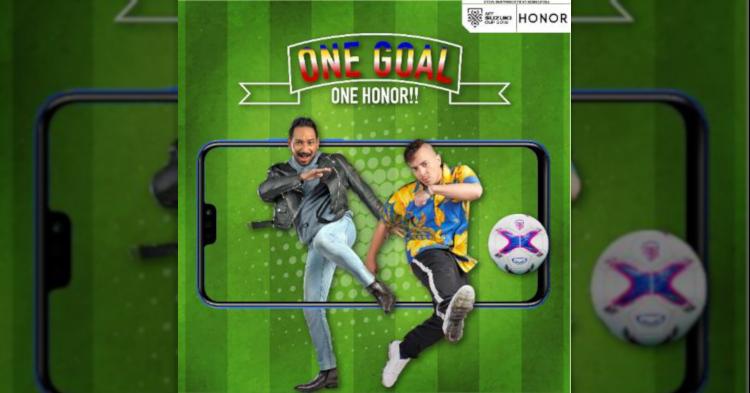 "honor""1 Goal, 1 honor""活动让你有机会赢得honor 8X!"