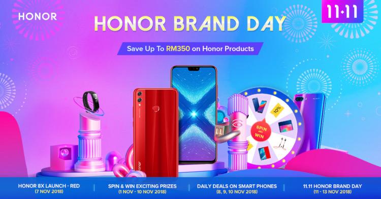 honor将在11.11的honor Brand day提供惊人的优惠!折扣高达RM350!