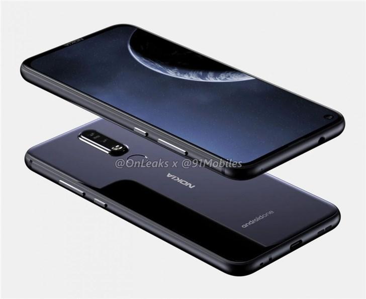 Nokia 8.1 Plus渲染图+影片登场!Nokia 8.1 Plus也用上了开孔屏!