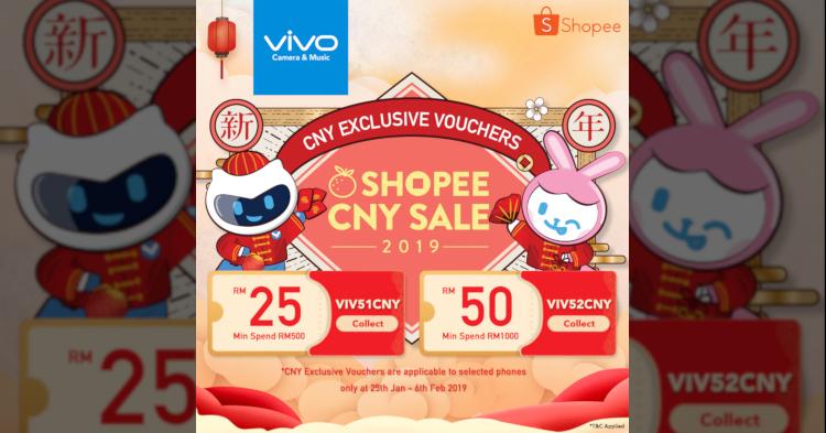 vivo新年促销活动正式开始!可获取高达RM100的优惠卷以及50%限时优惠折扣!