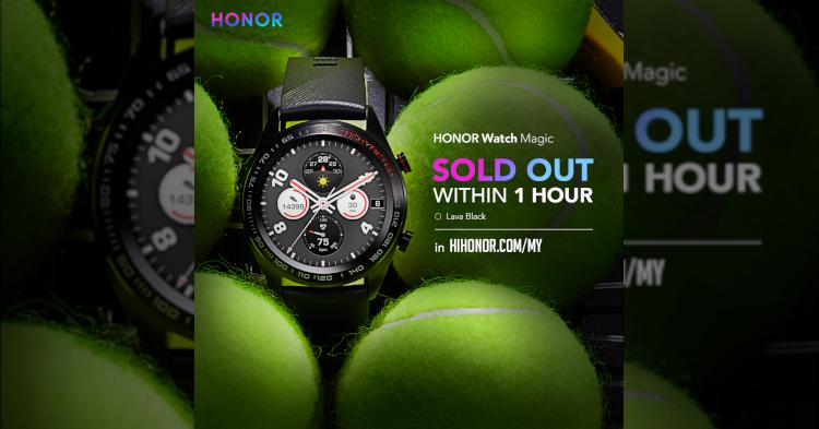HONOR Watch Magic在开卖后的短短1个小时内卖光光!