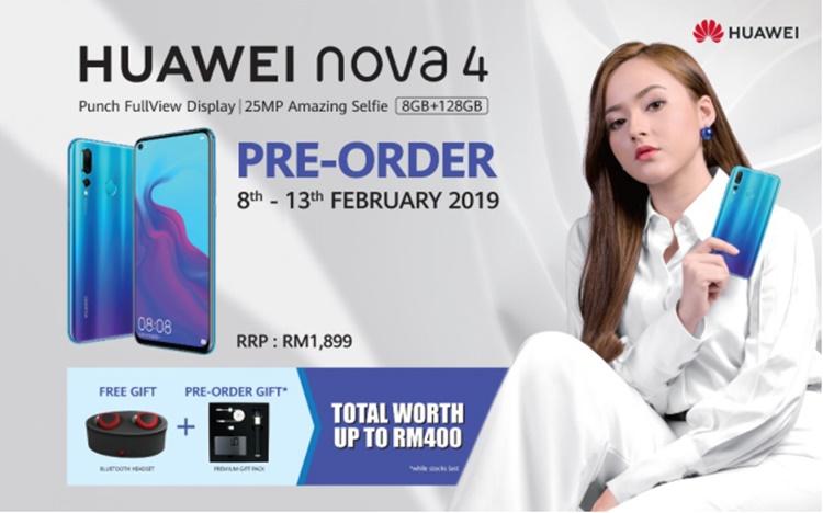 只要预购或购买Huawei nova 4!用户将可享有高达RM1000的优惠!