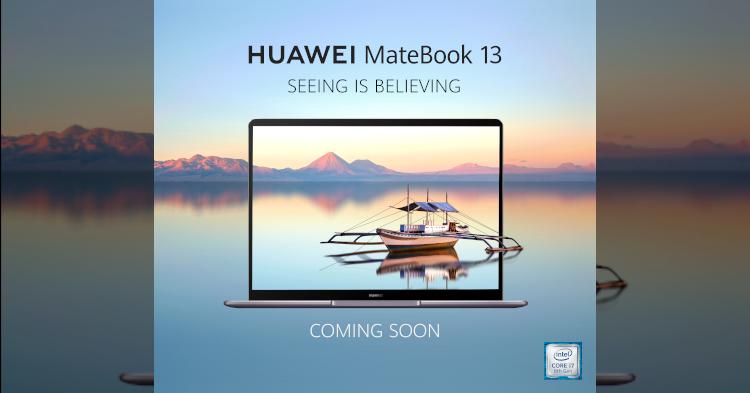 Huawei MateBook 13将于4月2日抵马!大马首款2K FullView显示屏笔电!