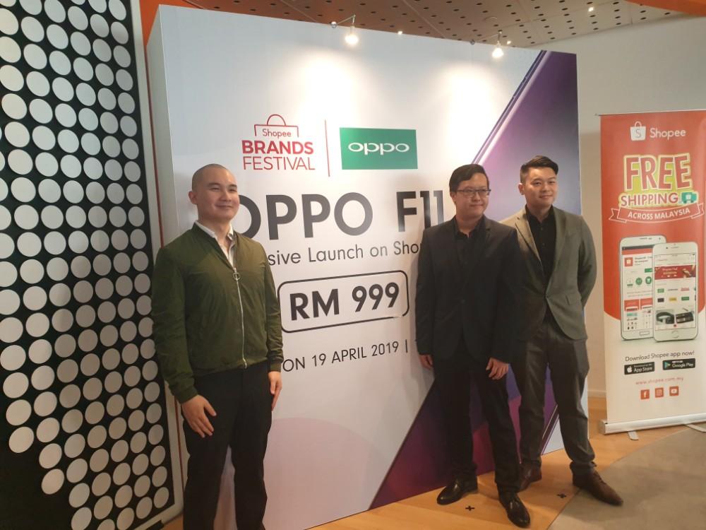 Shopee限定!OPPO F11以RM999优惠价正式发布!