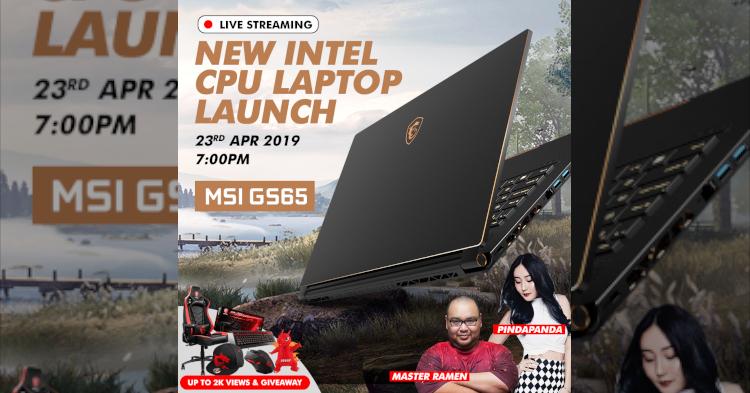 留守今晚MSI 最新笔电发布会,就有机会赢取总值RM8000的奖品!