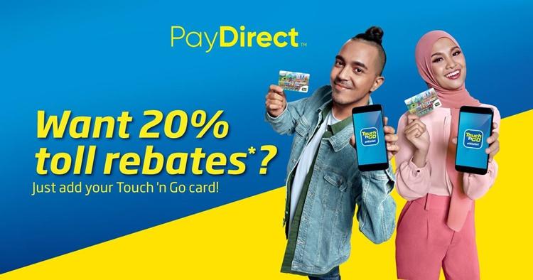 使用Touch'N Go Pay Direct功能可获取20%的折扣!再也不用大排长龙充值了!