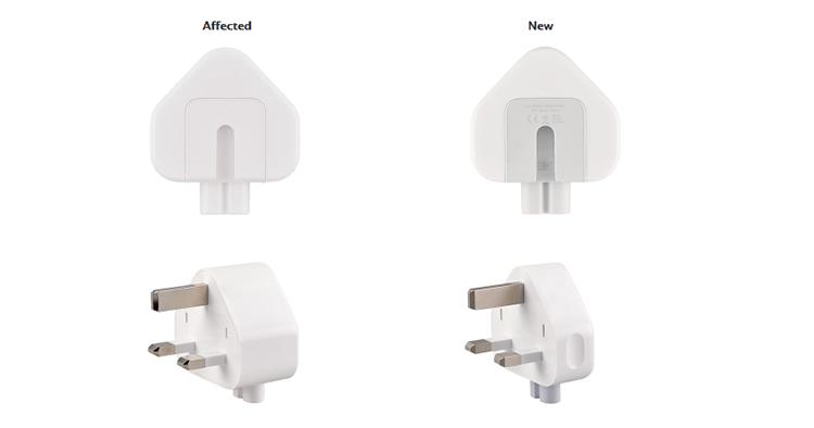 Apple宣布召回3脚插头!潜在电击风险!用户可免费换新插头!