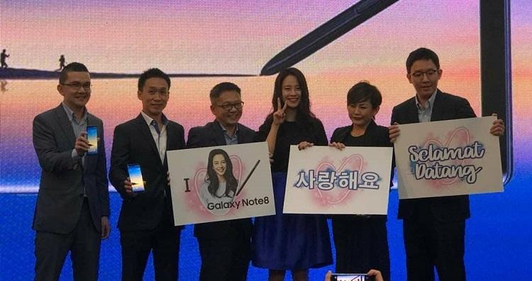 Galaxy Note 8正式在马来西亚发布!售价RM3999!RunningMan宋智孝的出现让发布会现场沸腾!