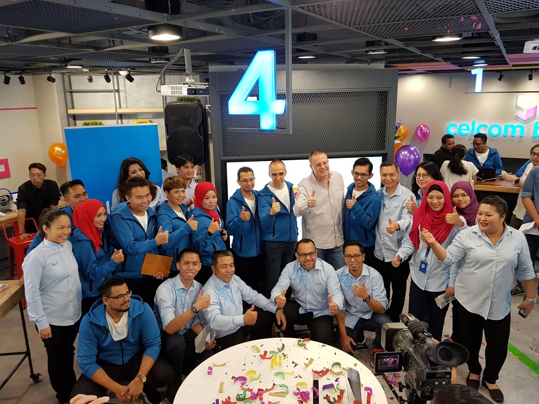 Celcom Cheras Blue Cube获全面翻新,2018年将普及至全马61家Blue Cube!