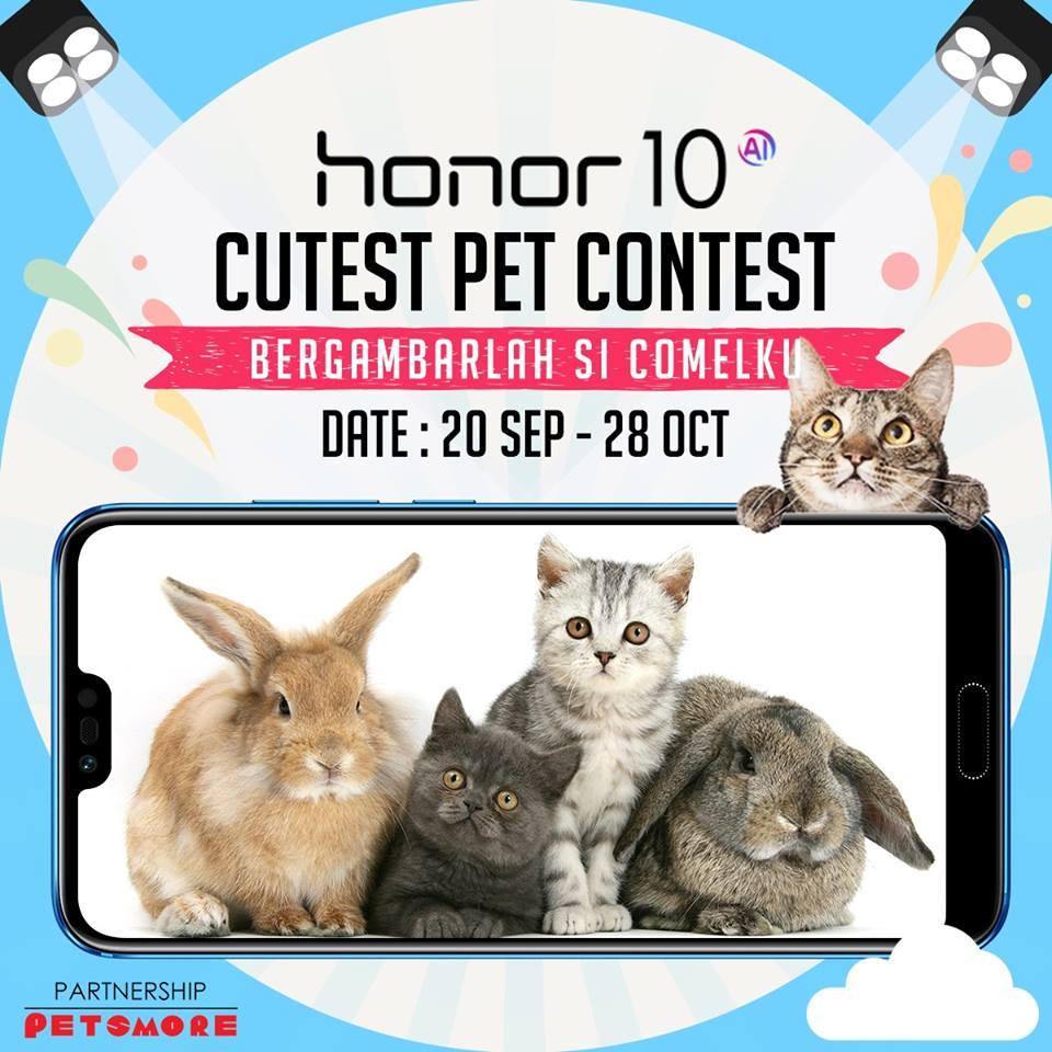 honor再有摄像活动竞赛!拍出宠物最可爱一面赢取全新honor 10与其他丰富礼品!