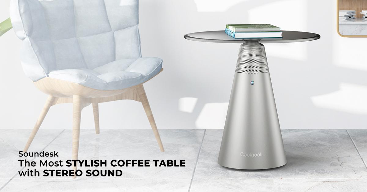 Coolgeek推出Soundesk咖啡桌扬声器!360°环绕让你陶醉其中!