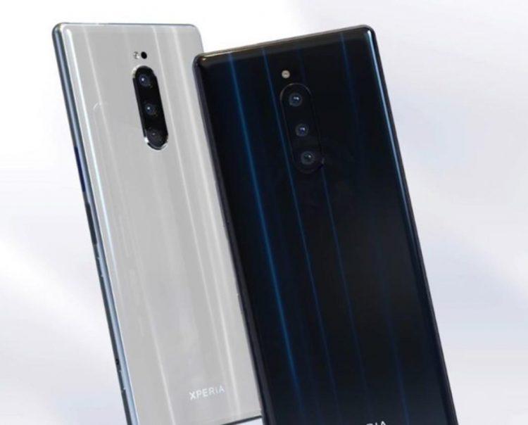 SONY Xperia XZ4渲染图曝光!后置3摄像头+炫眼后背设计+Snapdragon 855!