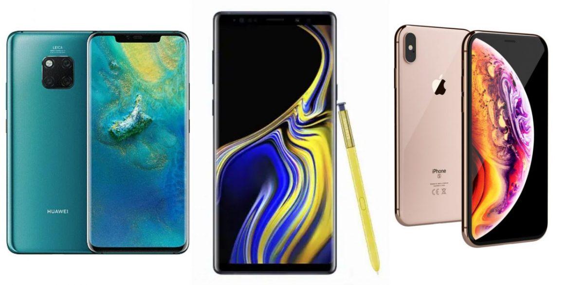 IDC公布2018年全球智能手机出货量排行榜!Samsung Apple Huawei排前三!