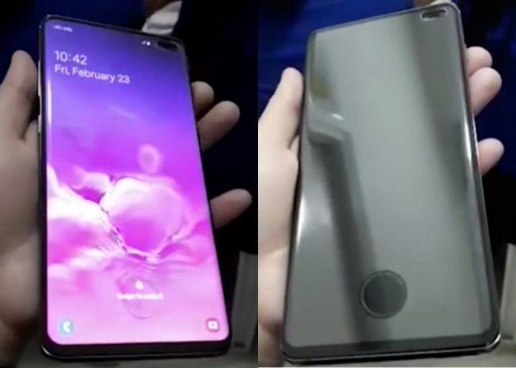 Samsung Galaxy S10 Plus真机视频流出!屏下指纹居然留有一个圆环状?