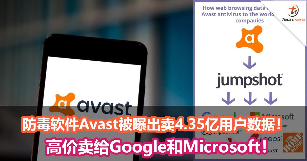 用私隐换防毒?防毒软件Avast被曝将4.35亿用户数据卖给Google和Microsoft!