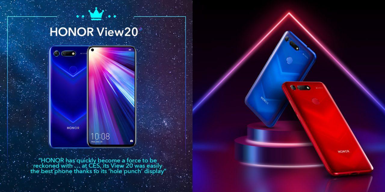 HONOR V20在CES 2019上赢取一系列奖项:将在1月22日在巴黎发布!
