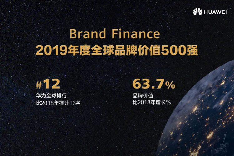 Brand Finance全球品牌价值500强发布!Huawei跃升至第12位!