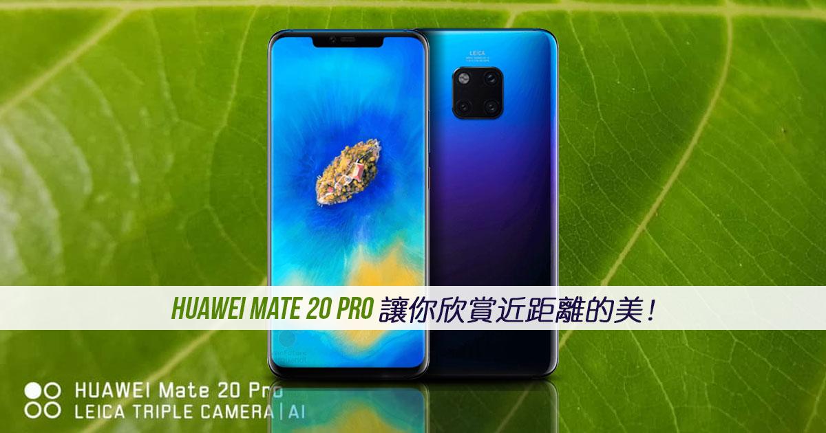 Huawei Mate 20 Pro能够让你靠得多近?让你欣赏近距离的美!