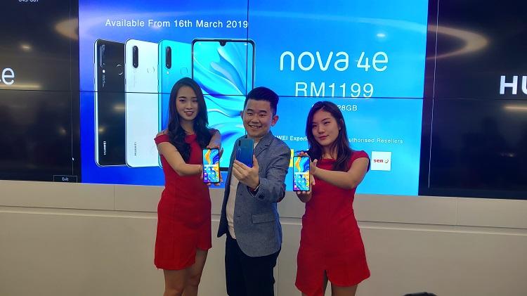 大马版的Huawei P30 Lite——Huawei nova 4e来啦!前置32MP摄像头+后置3摄像头!售价为RM1199!