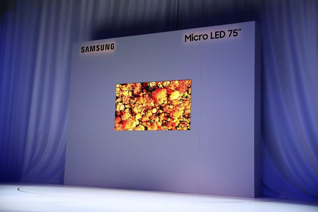 Samsung在CES2019展示了未来感的Micro LED技术!75寸的电视机来了!