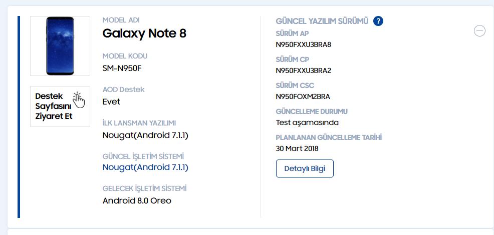 Samsung Galaxy Note 8 Android Oreo升级有眉目!本月底将开始推送?
