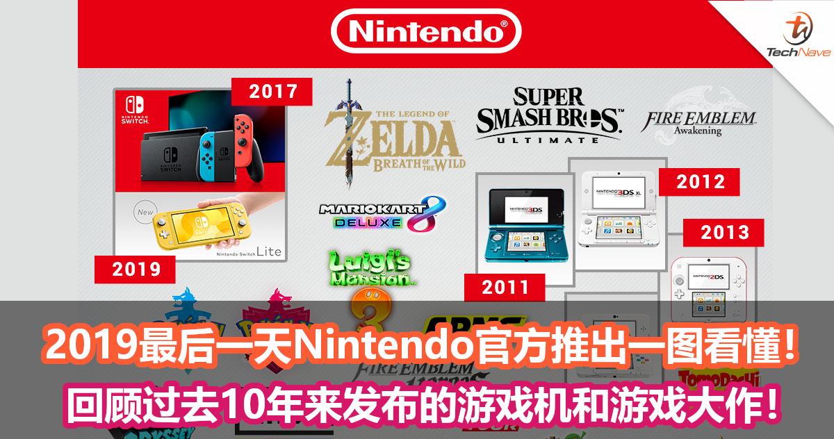 2019最后一天Nintendo官方推出一图看懂!回顾过去10年来发布的游戏机和游戏大作!