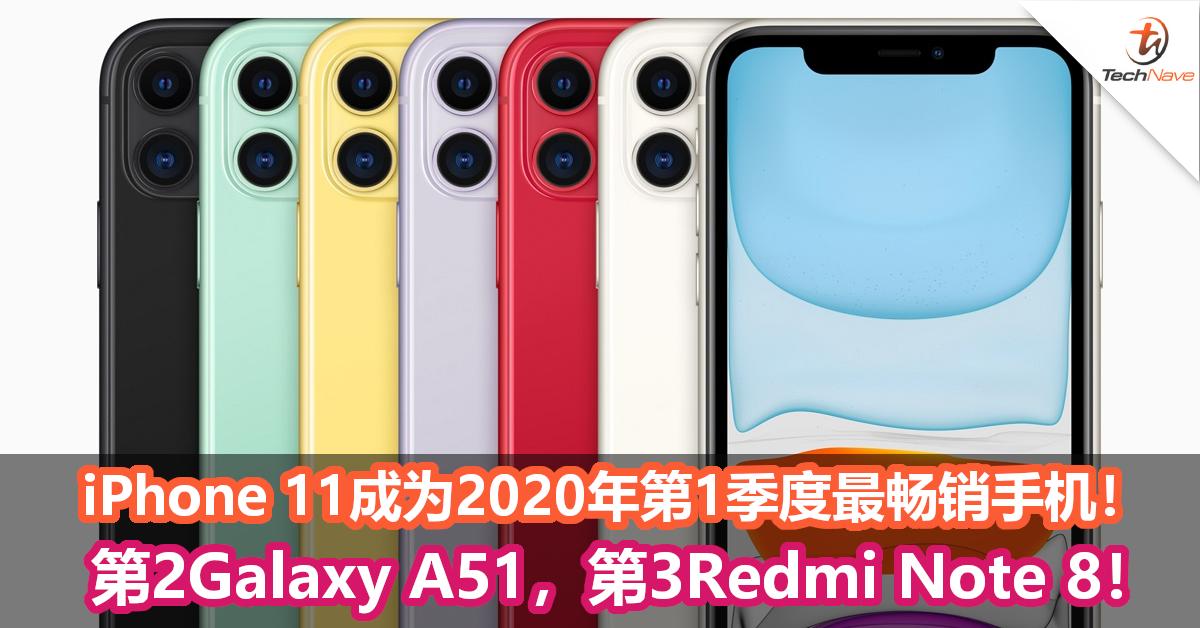 iPhone 11成为2020年第1季度最畅销手机,售出1950万部!第2是Galaxy A51!