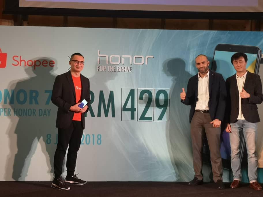 RM500 以下脸部解锁全面屏手机 – honor 7A 正式在马来西亚发布!6月8日优惠售价更是低至于RM429!