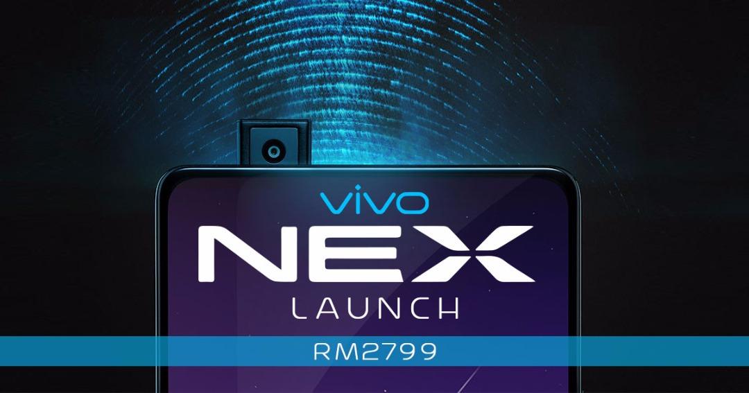 Snapdragon 845,8GB RAM +128GB ROM,无边框零界全面屏,升降式镜头等,vivo NEX以RM2799正式登陆大马!