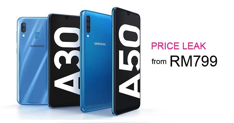 Samsung Galaxy A30和Samsung Galaxy A50价格曝光!RM799起!