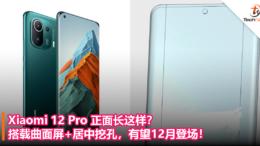 Xiaomi 12 Pro 正面长这样?搭载曲面屏+居中挖孔,有望12月登场!