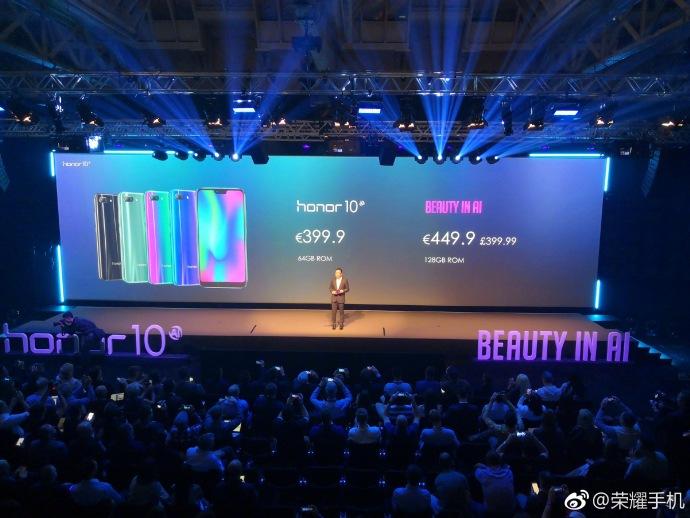 honor 10正式全球发布!Kirin 970处理器、变色激光后背、24MP前置 | 24MP + 16MP 后置等旗舰配置送上!
