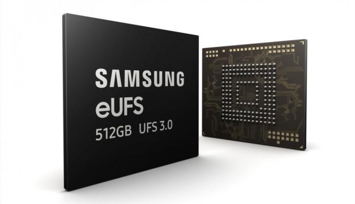 Samsung开始量产世界首批512GB eUFS 3.0存储芯片!读取速度比传统SSD快4倍!