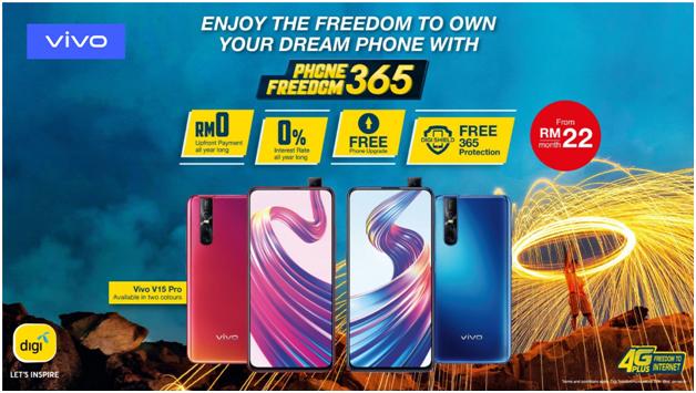 DIGI让你以每月RM22的月费将Vivo V15 Pro带回家!