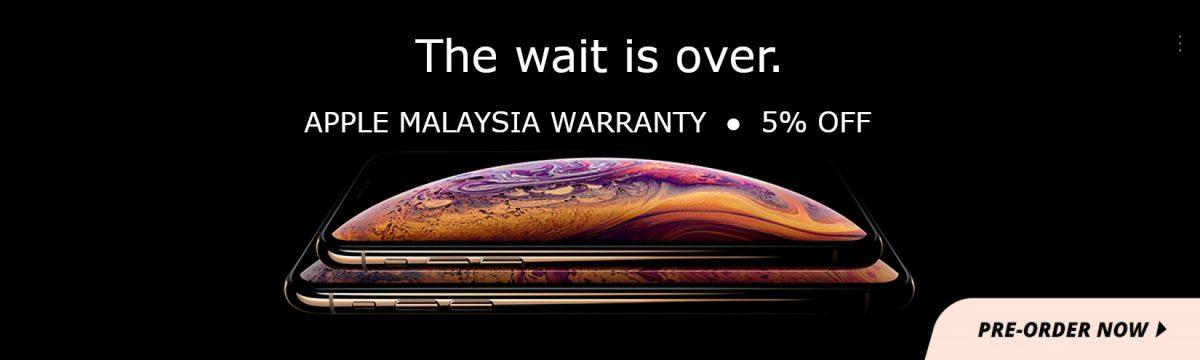 在Shopee预购最新的iPhone XS/XS MAX/XR将能享有高达5%的折扣!